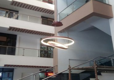 Kitengela Mall Atrium Light Fitting Installation